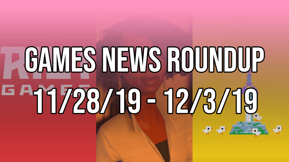 Games News Roundup 11/28/19 – 12/3/19
